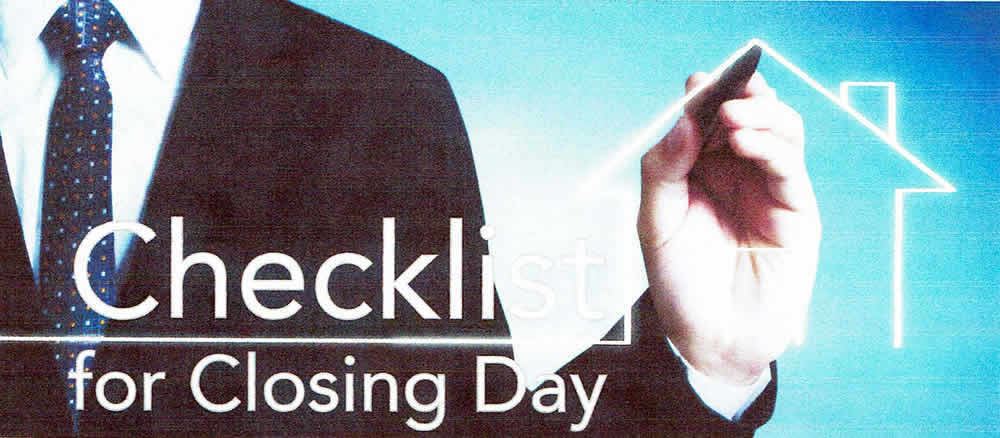Checklist For Closing Day